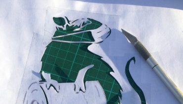 Stencil and Spray Workshop for Adults