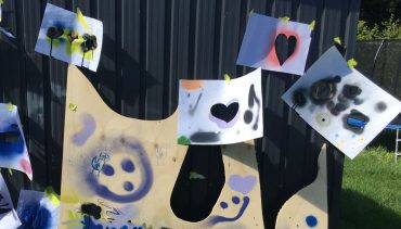 Stencil and Spray Workshop for Kids