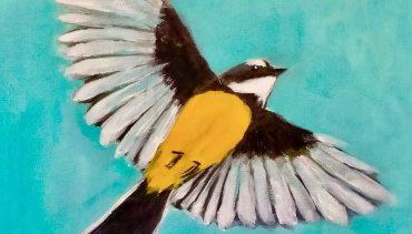 Paint and Wine Night – Pīwakawaka in Flight