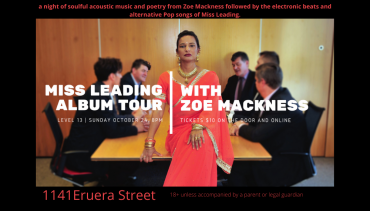 Live Music – Miss Leading and Zoe Mackness